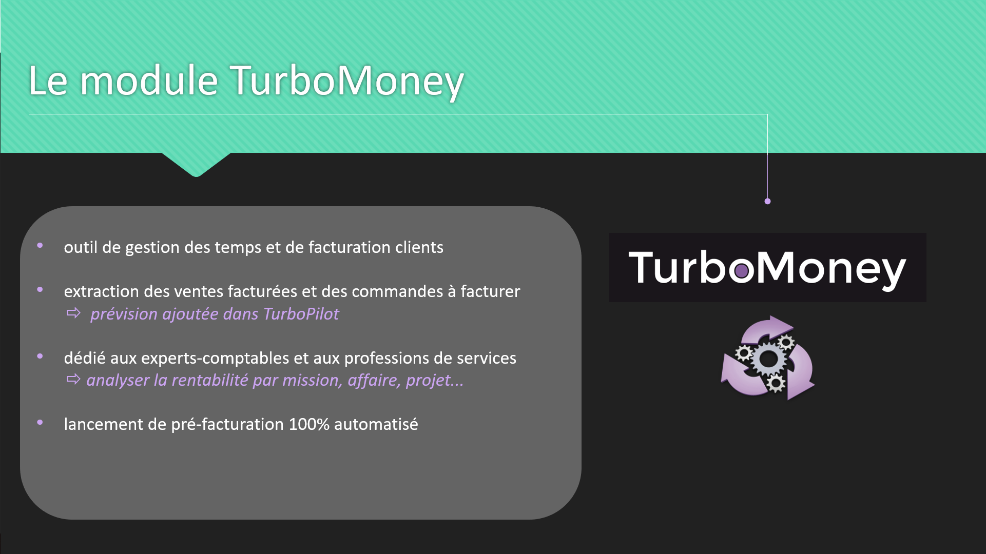 Le module TurboMoney